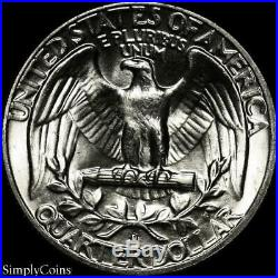 (40) 1957-D Washington Silver Quarter Roll BU Uncirculated US Coin Lot