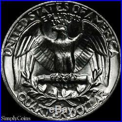 (40) 1958-D Washington Silver Quarter Roll BU Uncirculated US Coin Lot
