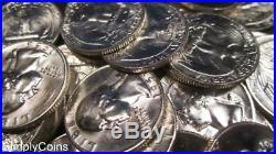 (40) 1958-D Washington Silver Quarter Roll Uncirculated With Spots SKU-12