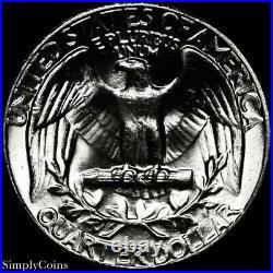 (40) 1958 Washington Silver Quarter Roll BU Uncirculated US Coin Lot MQ