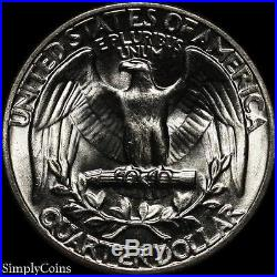 (40) 1959 Washington Quarter Roll BU Uncirculated 90% Silver US Coin Lot
