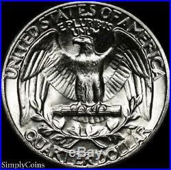 (40) 1961 Washington Silver Quarter Roll BU Uncirculated US Coin Lot MQ