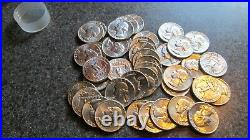 40, 1963 P Silver Washington Quarters in BRIGHT BU condition, 1 ROLL, VERY NICE