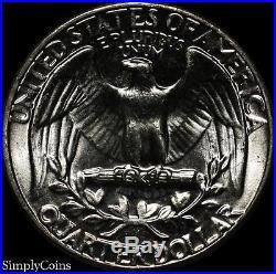 (40) 1963 Washington Quarter Roll BU Uncirculated 90% Silver US Coin Lot