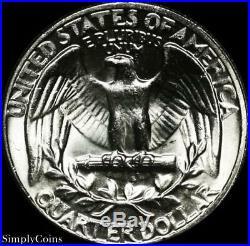 (40) 1964 Washington Silver Quarter Roll BU Uncirculated US Coin Lot MQ