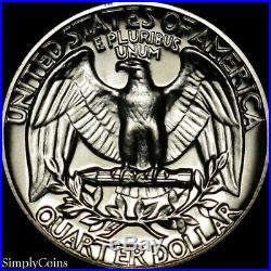 (40) 1964 Washington Silver Quarter Roll GEM Proof Uncirculated 90% Coin Lot