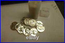 (40) 1964 Washington Silver Quarter Roll Proof Uncirculated