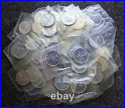 (40) 1965 Canada Proof Like PL Silver Quarters BU $10 Face Roll Canadian