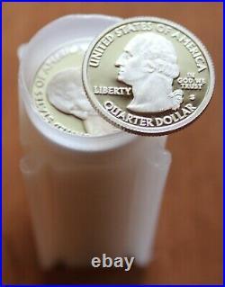 (40) 2009 S American Samoa Proof Silver State Quarters 1 Roll 90% Silver