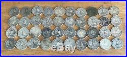40 Circulated Washington Silver Quarters $10.00 90% 1 Roll