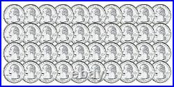 40 Coin Roll of 2002 S Indiana 90% Silver Proof Quarter 10 Dollar Roll