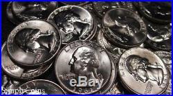 (40) Mixed Date Washington Silver Quarter Roll BU Uncirculated US Coin Lot