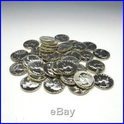 40 Proof 1962 Washington Quarter Roll $10 Face 90% Silver US Coin Lot BU