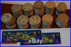 40- Silver Washington Quarters Dollars 25c US Coin 90% mixed dates/mints 1 roll