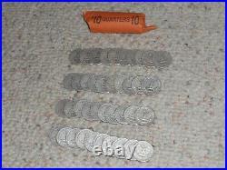 40 Washington Quarters-90% Silver-1935-S in Roll