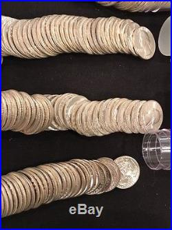 4 Rolls Of Uncirculated Silver Washington Quarters 1961,62,63 &64 $40 Face #W4
