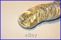 #6166, Roll(40)GEM BU 1955-D Washington Silver Quarters