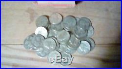 7 Rolls 90% Silver Circulated Washington Quarters (50 Troy oz, $70 FV)