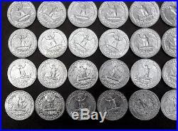 90% Silver 1957-D Washington Quarter Roll BU