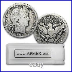 90% Silver Barber Quarters 40-Coin Roll Good/Better SKU #5187