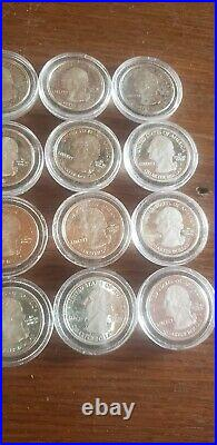 90% Silver Lot 20 Quarters $5 FV Half of a Roll proof state. Great condition