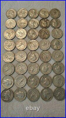 90% Silver Quarters Roll of 40