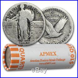 90% Silver Standing Liberty Quarters 40-Coin Roll (withDates) SKU #11168