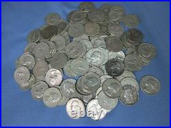 90% Silver Washington Quarters Circulated Roll Of 40 Coins FREE S/H