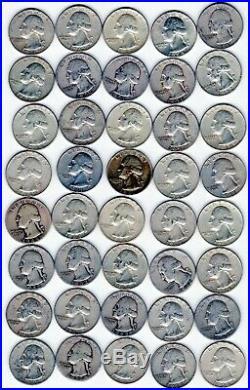 90% Silver Washington Quarters Roll of 40 $10 Face Value (item 18)
