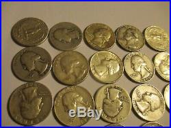 90% Silver quarters roll Washington, mixed some are UNC 40 total 1 roll SILVER