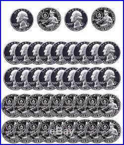 A 1976 S Washington Quarter PROOF 40% Silver US Mint 40 Coin ROLL