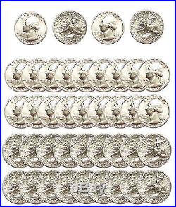 A Beautiful 1976-S Washington BU 40% Silver Quarter US Mint 40 Coin ROLL