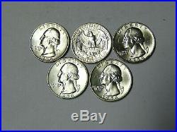 BU Roll 1958-D Washington Silver Quarters Denver Mint 40 Uncirculated Coins