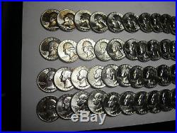 BU Roll of (40) 1964-D Silver Washington Quarters