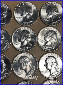 Bu Roll Of 1953 S Washington Silver Quarters