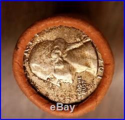 Bu roll silver 1963 Washington quarters
