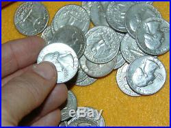 COLLECTIBLE 1 Roll Of 1963 90% Silver Washington Quarters $10 Face Value