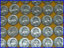 COLLECTIBLE 1 Roll Of 1964 90% Silver Washington Quarters $10 Face Value