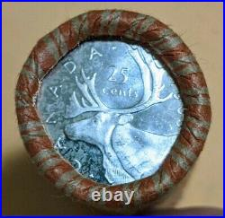 Canada 1965 25 Cents Quarters 80% Silver Roll 10$