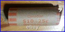 Canada 25 Cents Quarters 80% Silver Roll 10$ King George iv Queen Elizabeth
