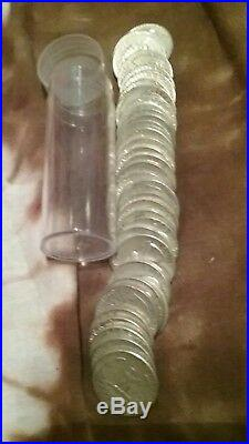 Circulated, Assorted Roll of 40 90% Silver Washington Quarters