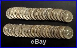 FULL ROLL OF (40) Silver Washington Quarter (40 Coins)-$10 Face Value + Bonus
