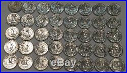 Full ROLL of 40 BU 1960 silver Washington quarters