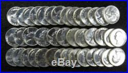 Full Roll 1961 D BU Silver Washington Quarters Beautiful 40 specimens