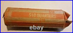 Full Roll of 40, $10 face value, 90% silver Washington QRTRS. MOST OF THEM 1964