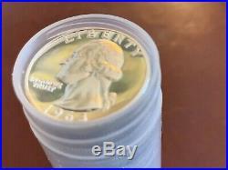 GEM Proof 1963 Washington Silver Quarter Roll (40) 90% Silver
