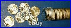 Gem BU 40 coin Roll 1945 d WASHINGTON Silver Quarter 25c Quarters BLAZE WHITE