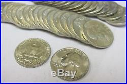 Gem BU Roll of 1954-D Washington Quarters 90% Silver Q2