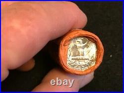 HALF Roll Of 1954 D Washington OBW 90% Silver Quarters BU. $5