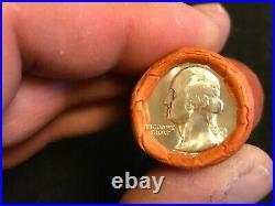 HALF Roll Of 1954 P Washington OBW 90% Silver Quarters BU. $5